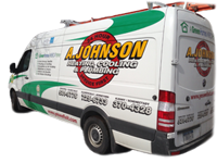 A. Johnson Plumbing and Heating has service trucks ready for your home energy audit and plumbing repair in Schenectady, NY