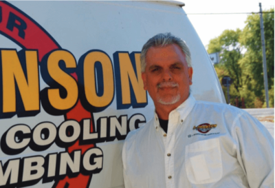 Anthony Johnson, owner of A. Johnson Plumbing and Heating, Inc.